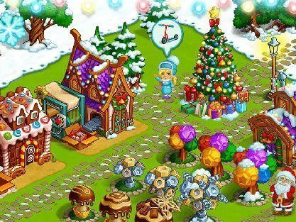 Farm snow: Happy Christmas story with toys and Santa hra