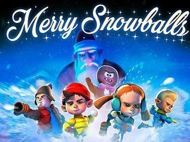 Merry snowballs game on mobile