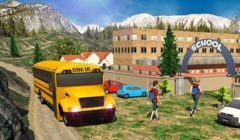 Hra School bus: Up hill driving