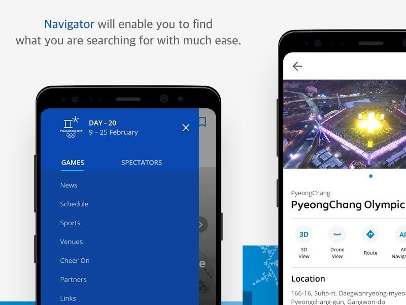 Samsung launches official application for Winter Olympics in PyeongChang tools and utilities android communications application android news application