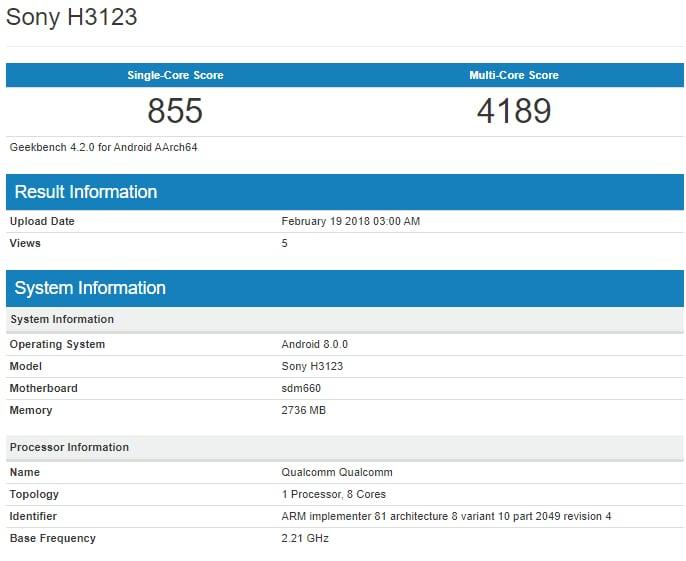 Sony oznámilo 3 nové telefony se Snapdragon 660   novinky