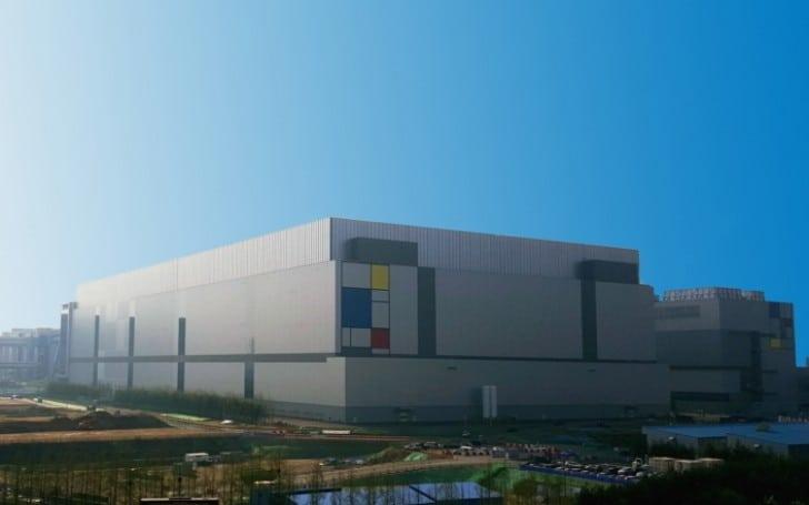 Továrna od Samsungu ve městě Hwaesong, Jižní Korea
