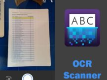 Text image - OCR scanner