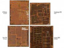 Porovnejme velikosti čipů jednotlivých společností: Qualcomm, Samsung, Huawei a Apple