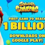 Subway Surfers je první hrou, která dosáhla 1 miliardy stažení