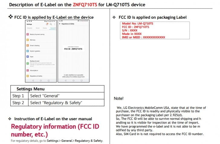 LG Q7 získalo certifikaci FCC