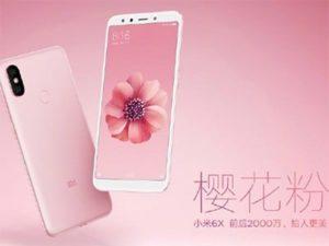 Xiaomi Mi 6X v růžové barvě