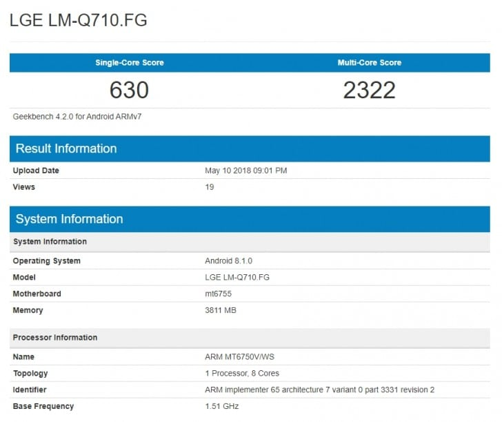 LG G7 na Geekbench testu