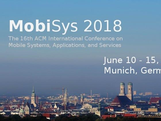 MobiSys 2018