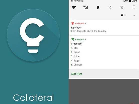Collateral - Create Notifications