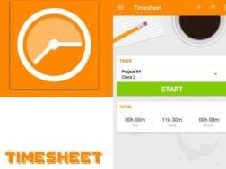 Aplikace Timesheet - Time Tracker