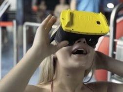 Novinka s virtuálními brýlemi na tobogánu