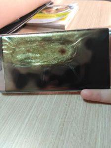 Samsung Galaxy S7 Edge začal hořet