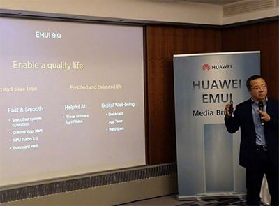 Huawei a EMUI 9.0