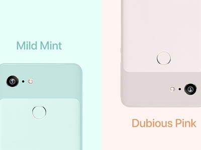Google Pixel 3 barevná kombinace