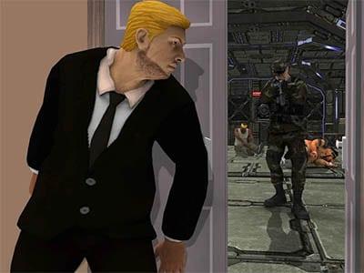 Hra US prezident na své misi