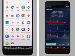 Navbar Weather aplikace na android