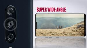LG V40 pro širokoúhlý záběr