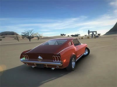 Android závodní hra Classic American Muscle Cars 2