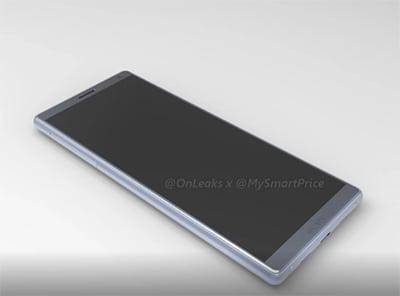 Sony Xperia XA3 rendery