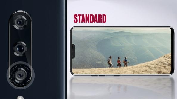 LG V40 standardní čočka fotoaparátu