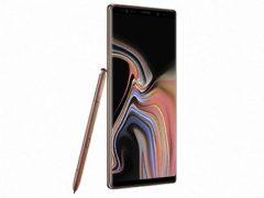 Samsung Galaxy Note 9 v měděné barvě