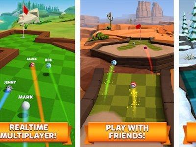 Android sportovní hra Golf Battle