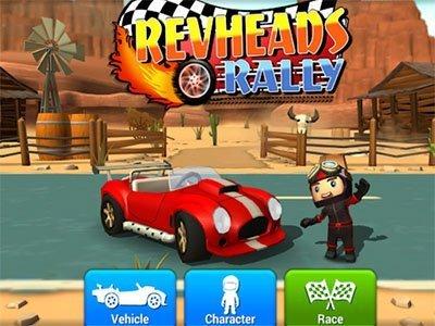 Android závodní hra Rev Heads Rally