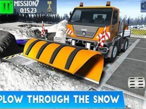 Android závodní hra Winter Snow