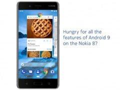 Nokia 8 obdržela Android Pie beta