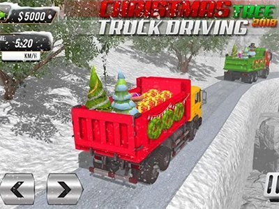 Android hra Christmas Tree Transporter Truck: Driving Games