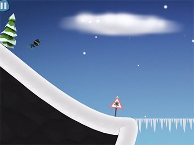 Android hra Stickman Ski