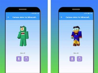 Cartoon skins pro hru Minecraft