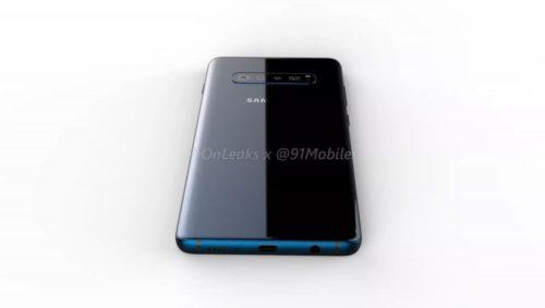 Samsung Galaxy S10 rendery