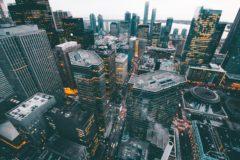 Pohled na architekturu města