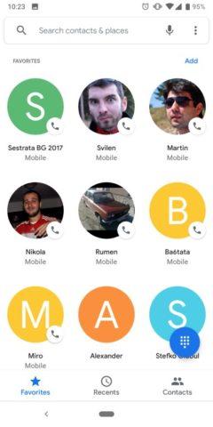 Google phone nový design