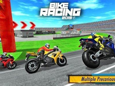 Android závodní hra Bike Racing 2019