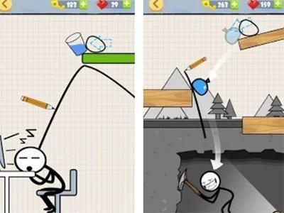 Bad Stickman android logická hra