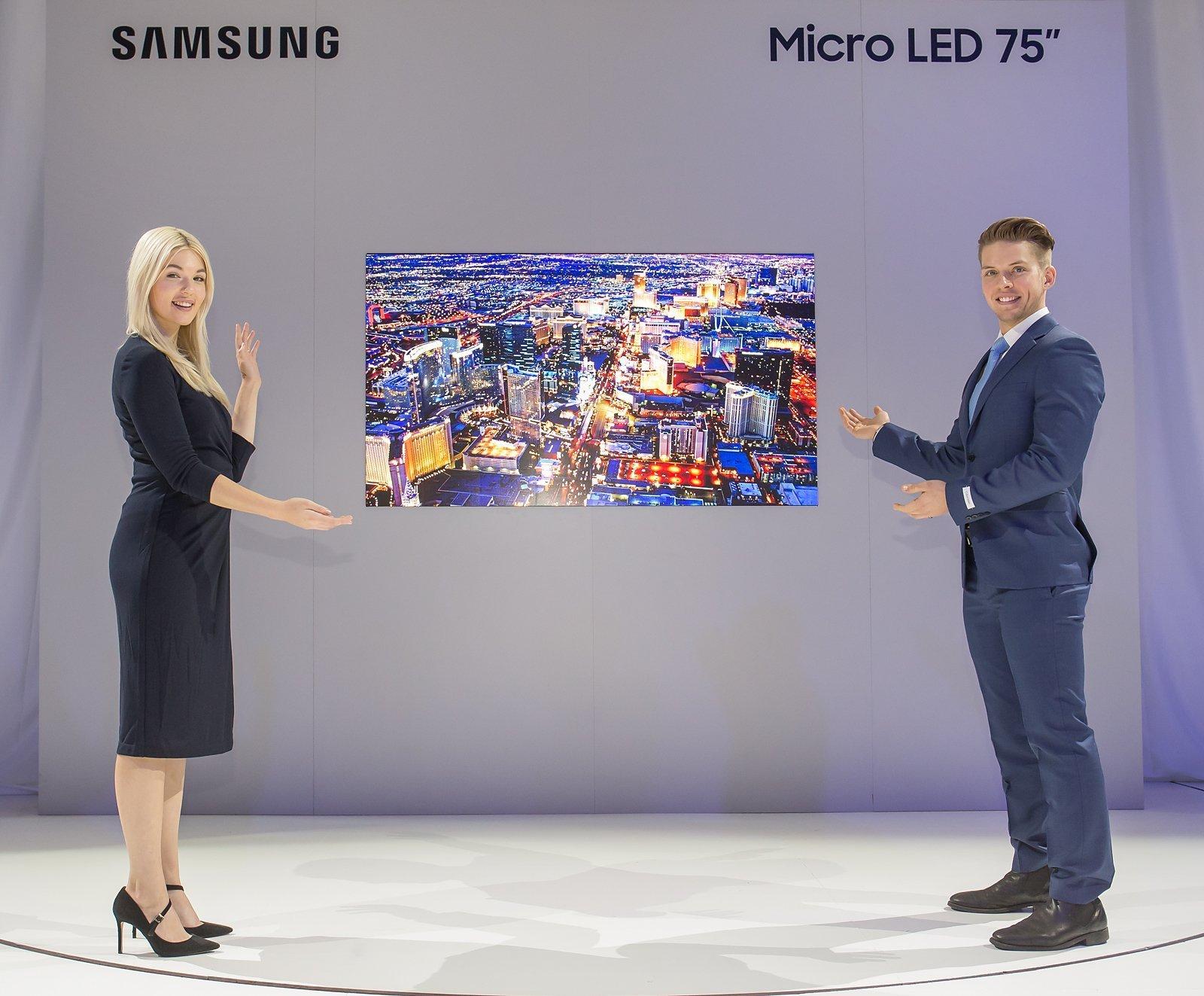 Samsung MicroLED TV vhodná do domácnosti