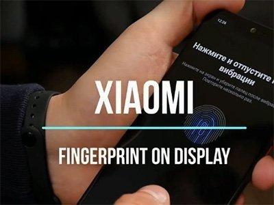 Xiaomi snímač otisků pod displejem.