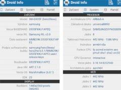 Aplikace Droid hardware info