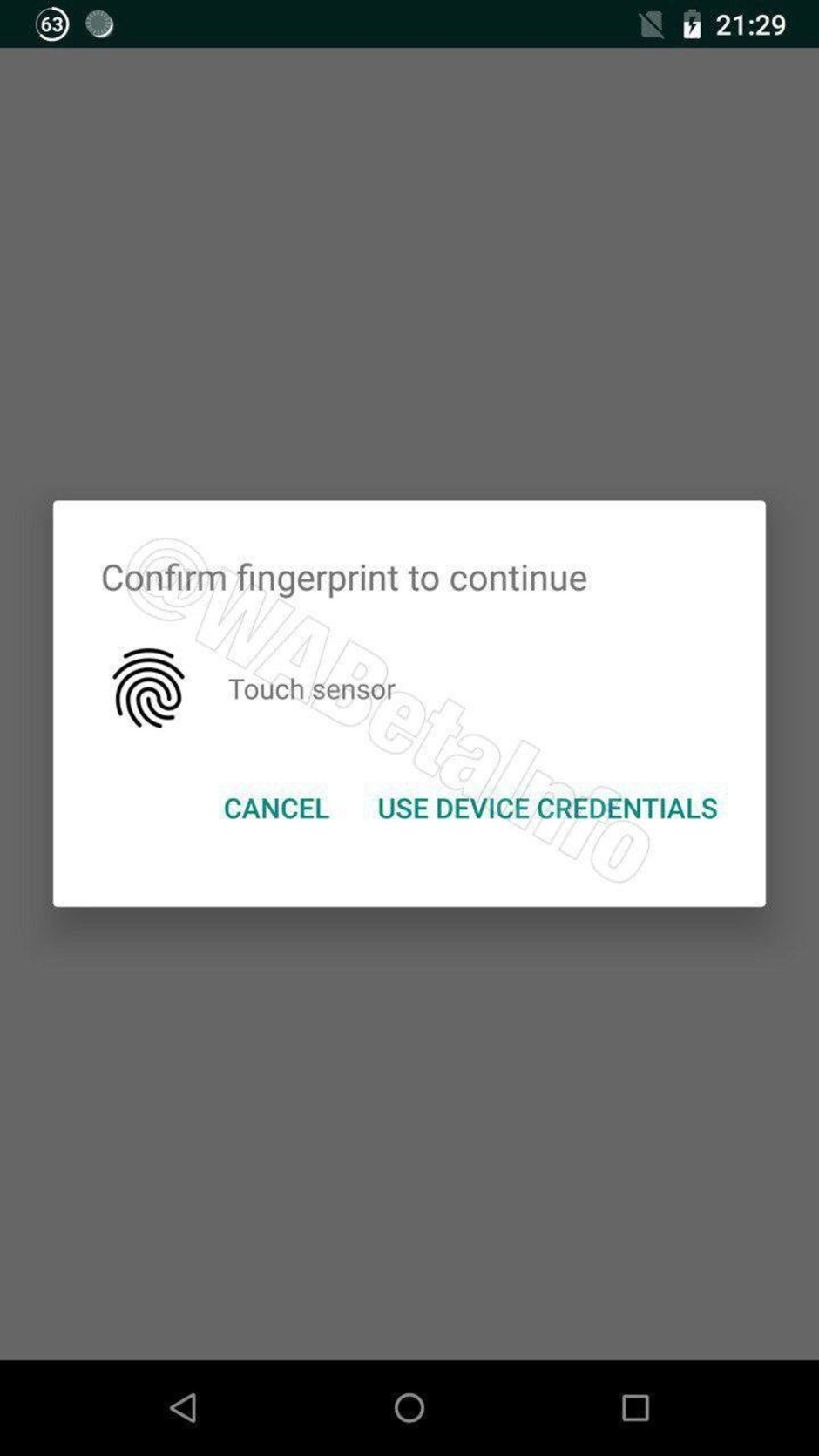 Touch iD WhatsAPP