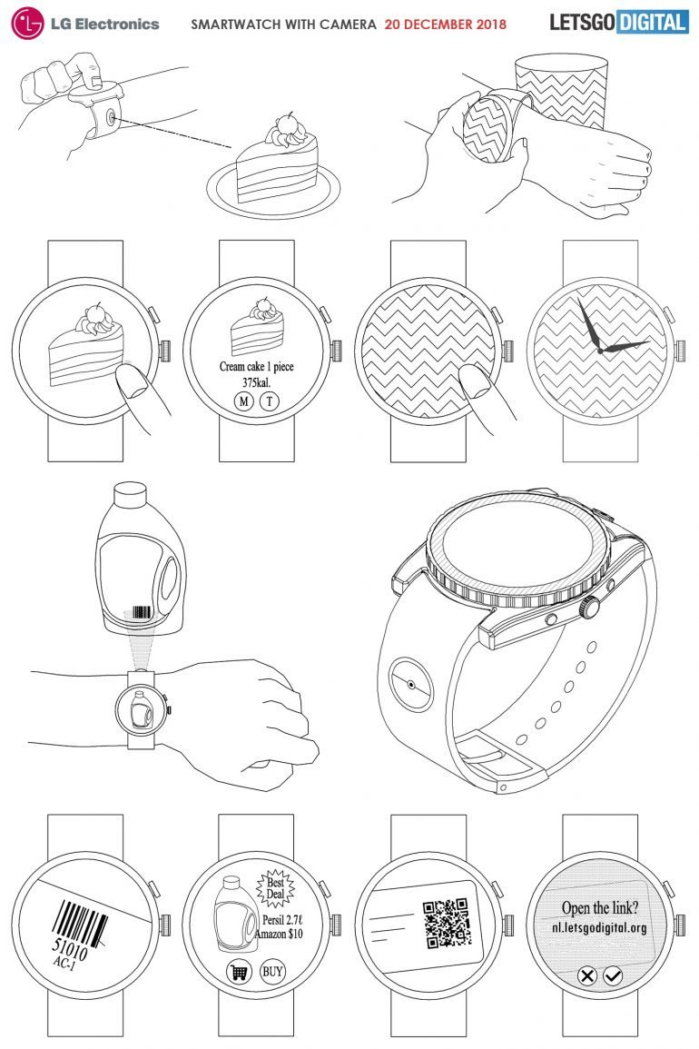 LG kamera v hodinkách