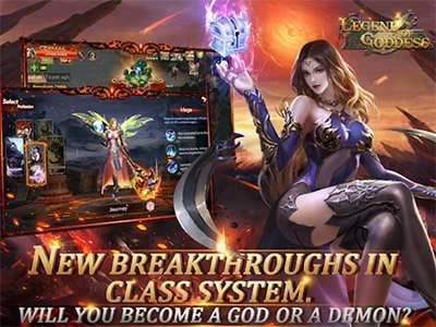 Android MMORPG hra The Legend Of Goddess