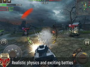Android MMORPG hra Battle Tanks