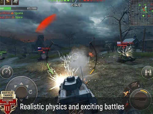 Android MMORPG hra Battle Tanks