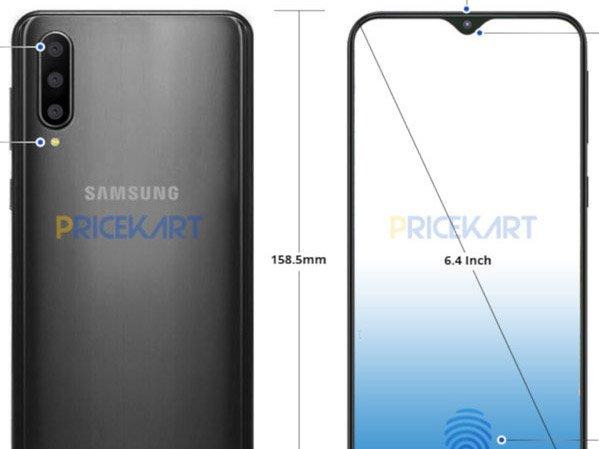 Samsung Galaxy A50 rendery