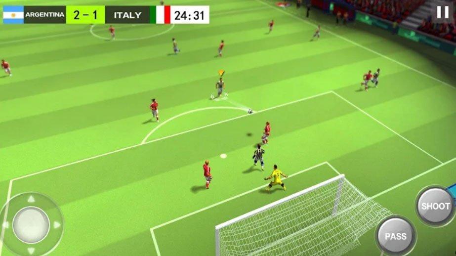 Android sportovní fotbalová hra Football Hero