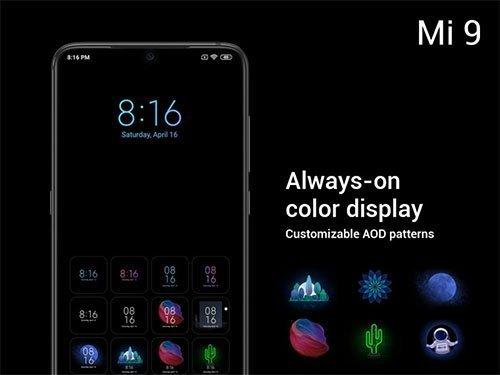 Xiaomi Mi 9 Always on Web