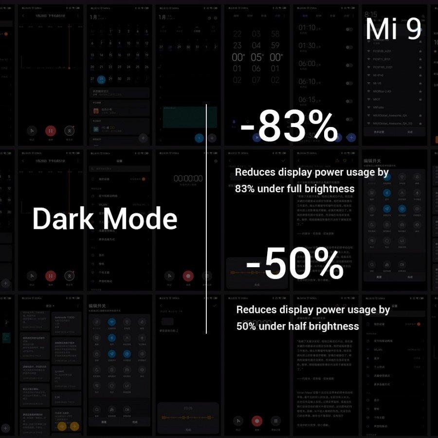 Xiaomi Mi 9 noční mód
